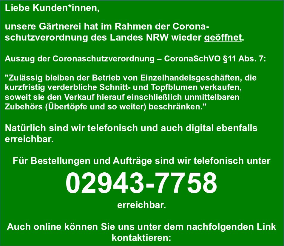 Öffnungzeiten_Gärtnerei_Enge_Erwitte_Corona_Schutzverordnung_geöffnet_Land_NRW